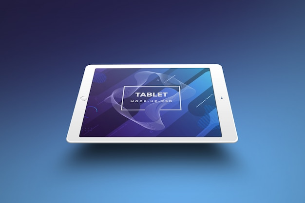 Tablet mockup perspectief