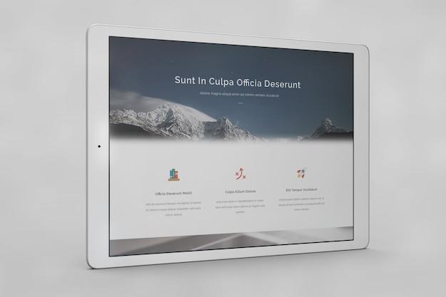 Tablet scherm mock up