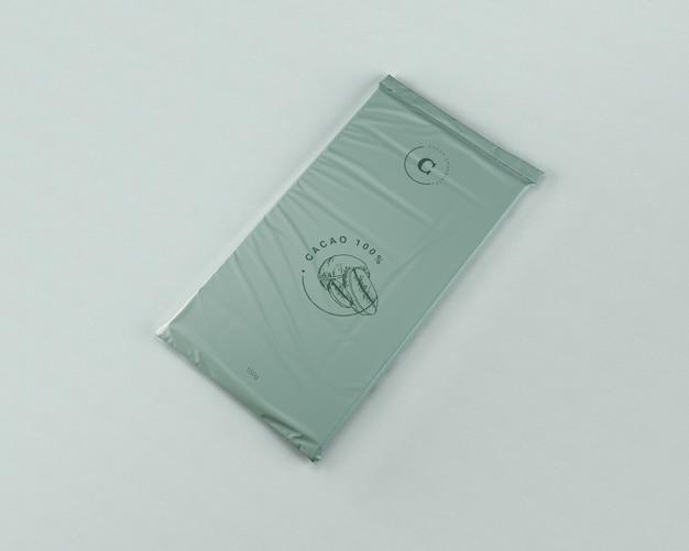 Tableta de chocolate envolviendo maqueta