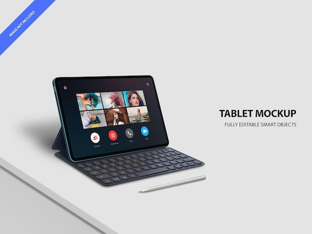 Tabletscherm met toetsenbord en penmodel
