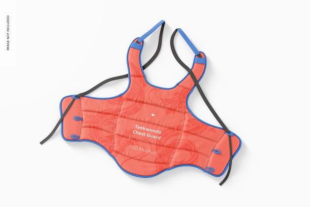 Taekwondo-borstbeschermermodel, bovenaanzicht