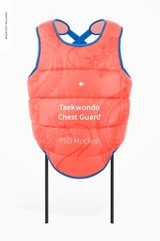 Taekwondo-borstbeschermermodel, vooraanzicht
