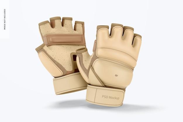 Taekwondo handschoenen mockup, vallen