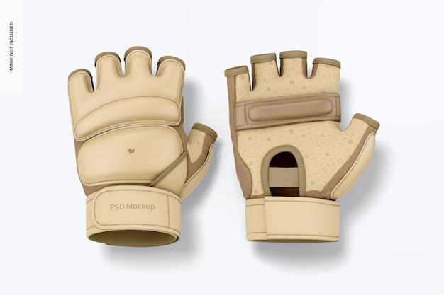 Taekwondo-handschoenenmodel, bovenaanzicht