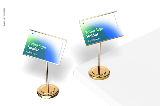 Tafelbordhouders metalen basismodel