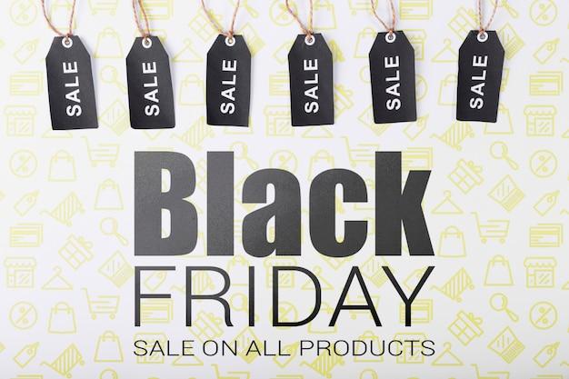 Tags voor zwarte vrijdag verkoopcampagne