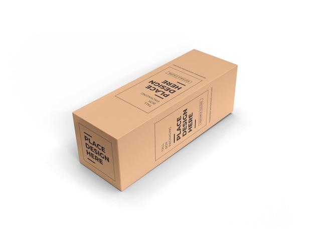 Tall box packaging mockup design geïsoleerd