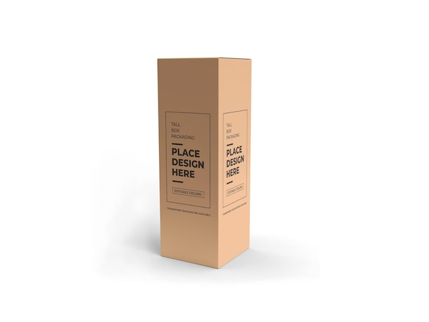 Tall box packaging mockup geïsoleerd