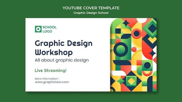 Taller de diseño gráfico portada de youtube