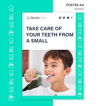 Tandarts concept poster sjabloonontwerp