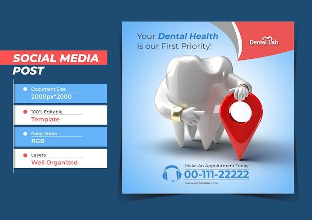 Tanden met navigatie tandimplantaten chirurgie concept instagram