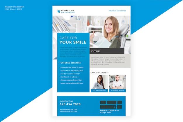 Tandheelkundige kliniek folder sjabloon