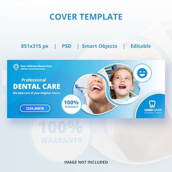 Tandheelkundige zorg voorbladsjabloon