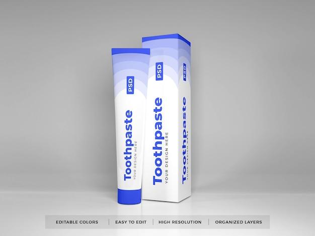 Tandpasta verpakking 3d-mockup