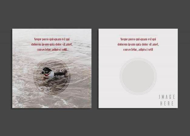 Tarjeta creativa con fotografía con diseño creativo