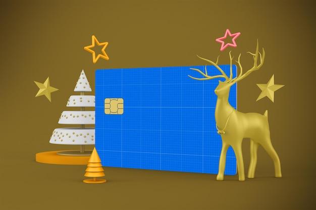 Tarjeta de crédito navideña