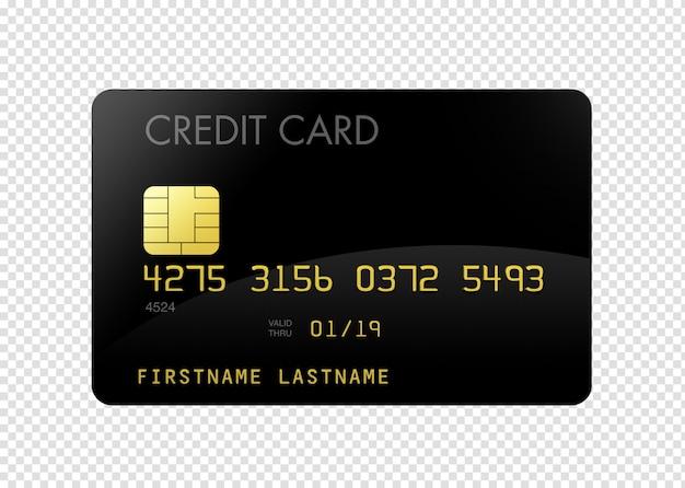 Tarjeta de credito negro