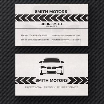 Tarjeta de visita para servicio de vehículos