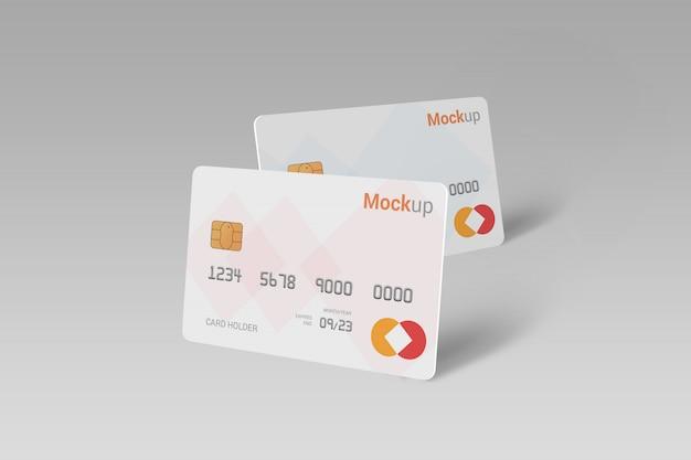 Tarjeta de débito, tarjeta de crédito, maqueta de tarjeta inteligente