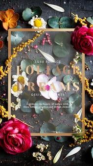 Tarjeta estampada floral