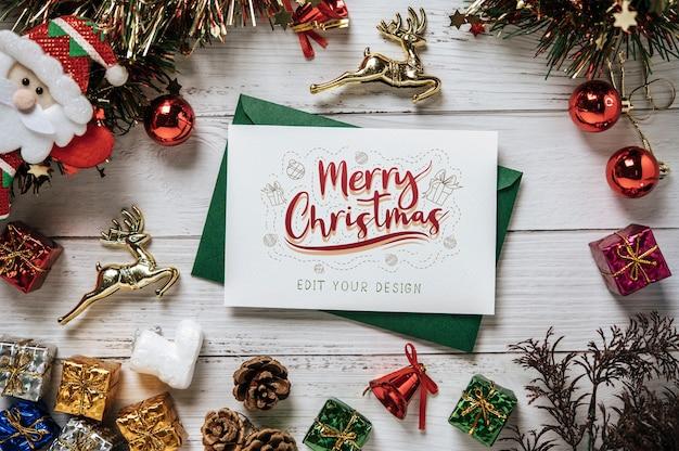 Tarjeta de felicitación de feliz navidad psd