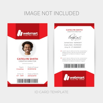 Tarjeta de identificación del empleado