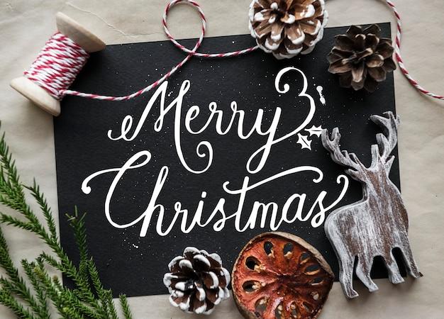 Tarjeta de navidad deseando