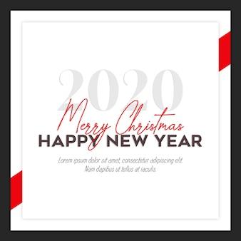 Tarjeta de navidad de instagram o plantilla de banner