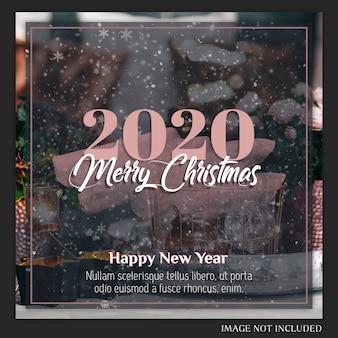Tarjeta de navidad de instagram