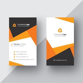 Tarjeta de negocios naranja y blanca