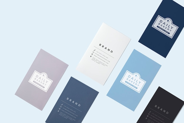 Tarjeta de presentación y maqueta de tarjeta de presentación.