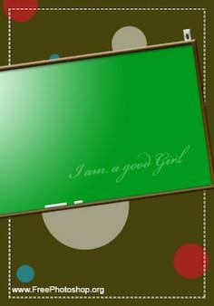 Tarjeta verde con burbujas psd