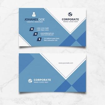 Tarjeta de visita azul corporativa