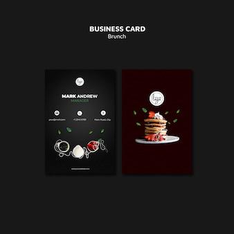Tarjeta de visita de diseño de restaurante de brunch
