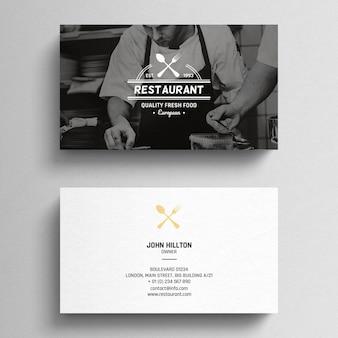 Tarjeta de visita mínima del restaurante