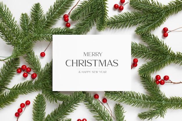 Tarjeta de visita navideña editable con texto personalizado