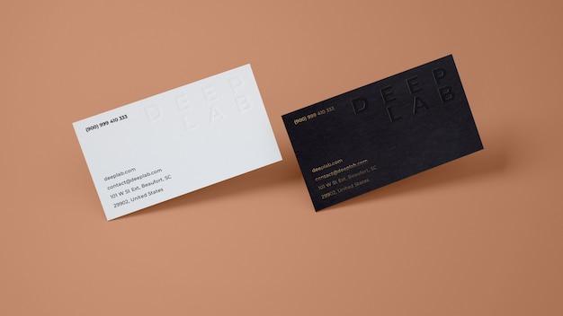 Tarjeta de visita premium con maqueta de color de fondo editable