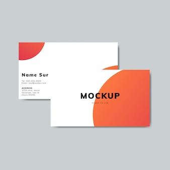 Tarjeta de visita simple diseño de maqueta