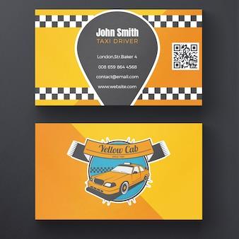 Tarjeta de visita de taxi