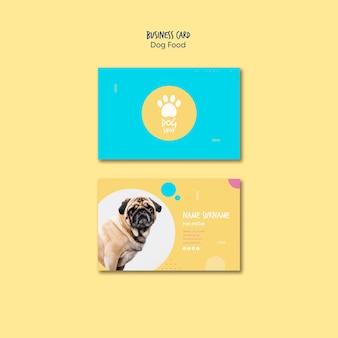 tarjeta de visita para tienda de comida para perros