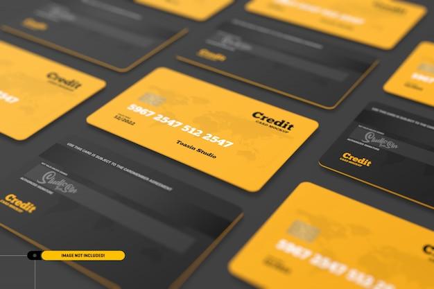 Tarjetas de crédito. maqueta de tarjetas de regalo