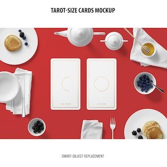 Tarotkaart met foliedruk mockup
