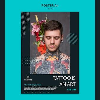 Tatoeage is een sjabloon voor een kunstposter