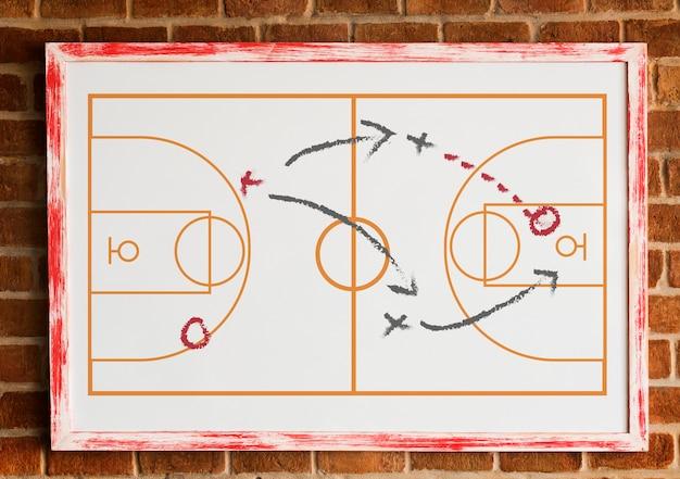 Tattica del gioco da tavolo di coaching sportivo