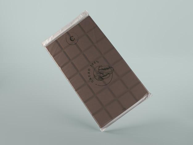 Tavoletta in plastica con design di cioccolato