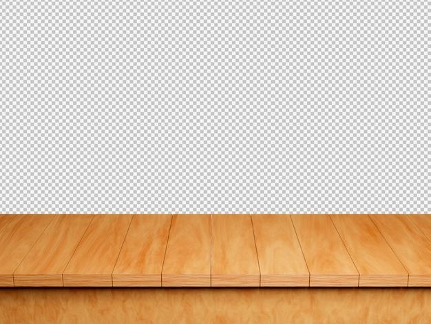 Tavolo in legno isolato