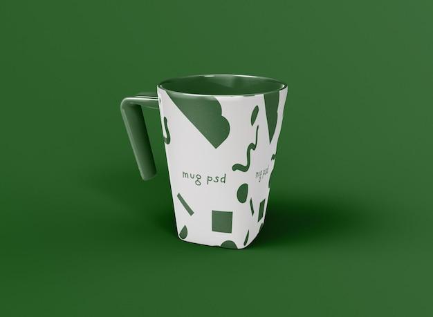 Taza de café cuadrada 3d