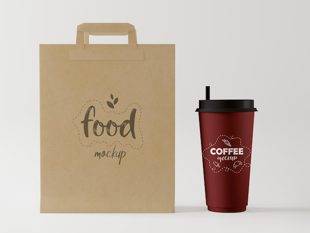 Taza de café para llevar mockup