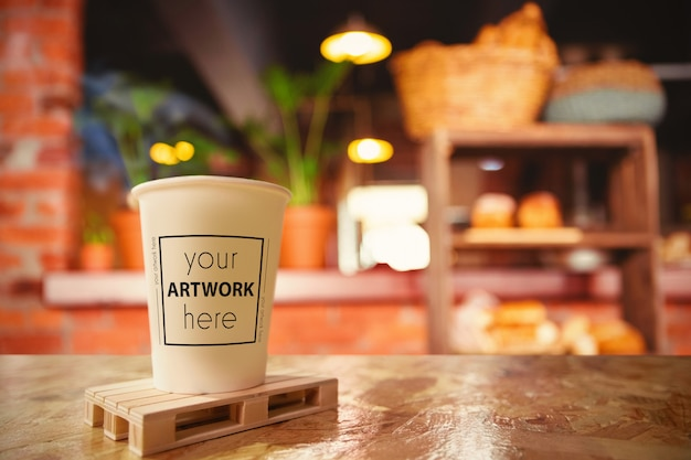 Taza de café maqueta