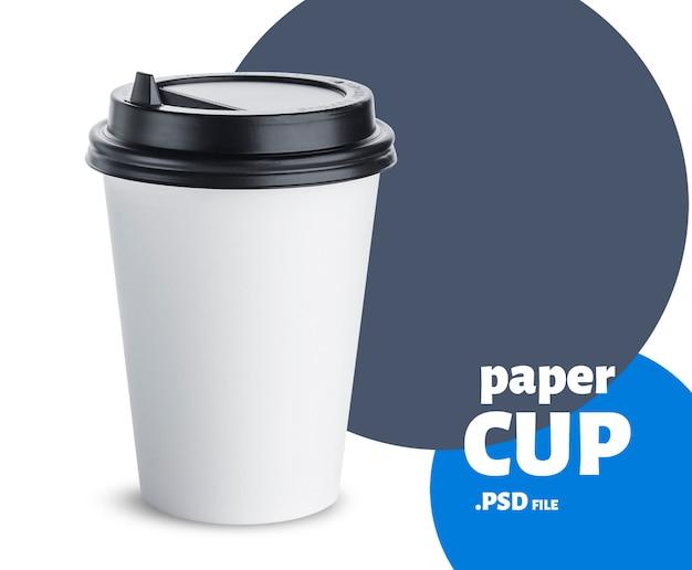 Taza de papel desechable simulacro